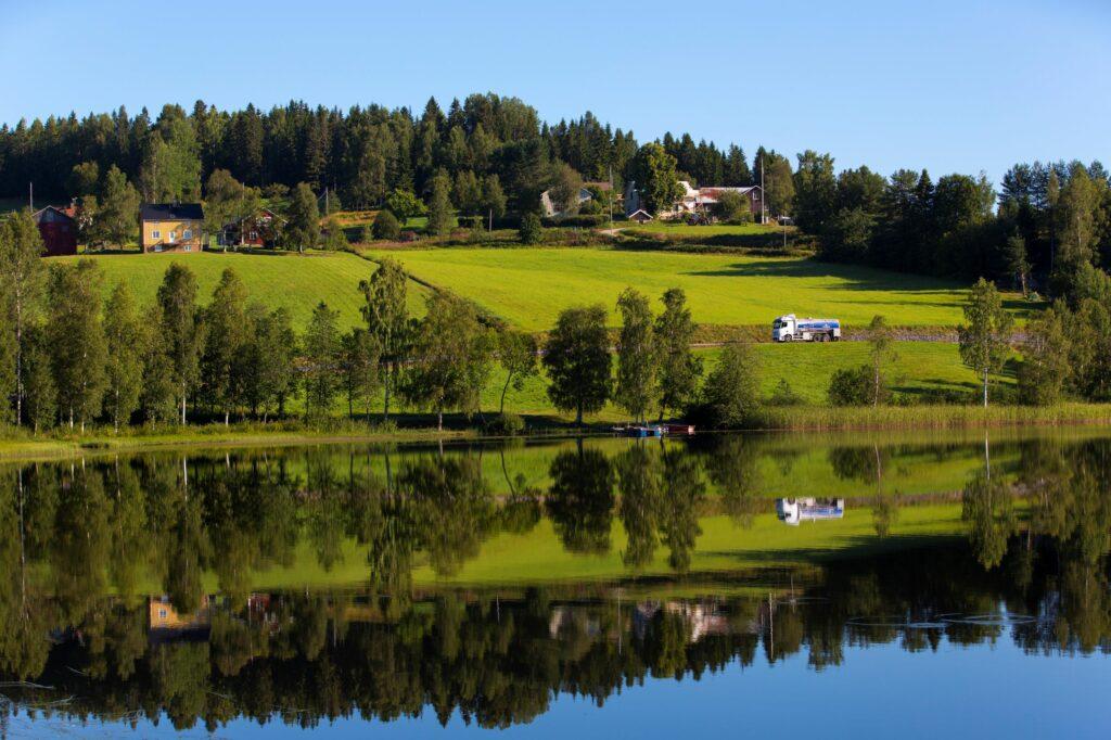 Bild på ängar i Västerbotten